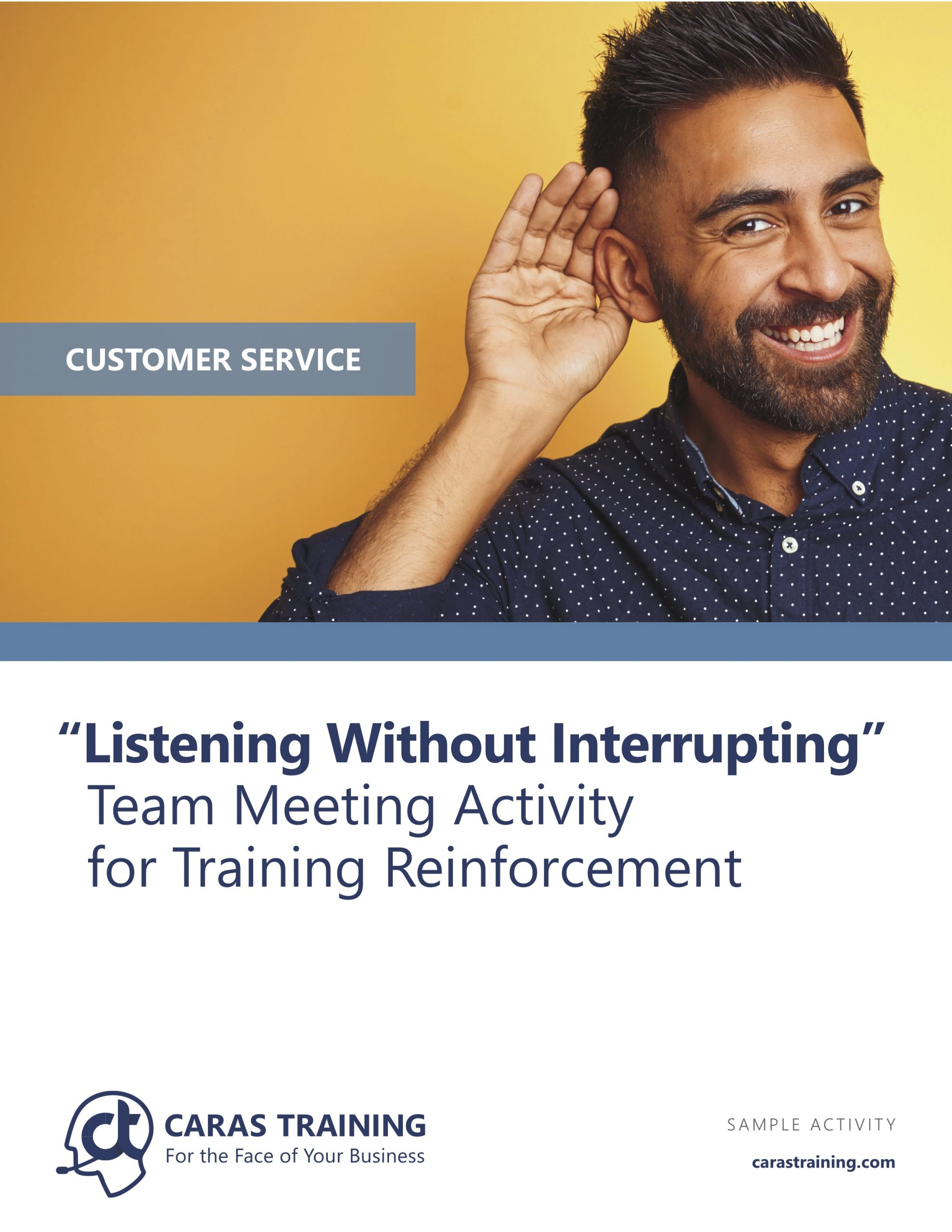 Listening without interrupting training